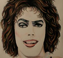 Frank n Furter in Derwent pencils by Sharyn Kimpton