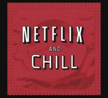Netflix and chill - condom Kids Tee