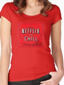Netflix and chill - condom Women's Fitted Scoop T-Shirt