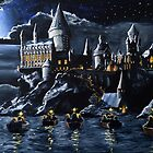Hogwarts by night by Siobhancal