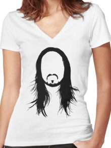 Steve Aoki Shirt  Women's Fitted V-Neck T-Shirt