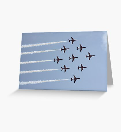 Red Arrows 6 Greeting Card