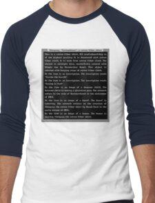 Dwarf Fortress Shirt Artifact DARK BLUE ONLY Men's Baseball ¾ T-Shirt