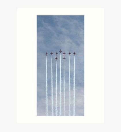 Perfect Formation - Red Arrows Art Print