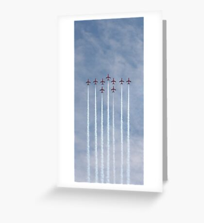 Perfect Formation - Red Arrows Greeting Card