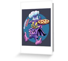 Batmite Pizza Greeting Card