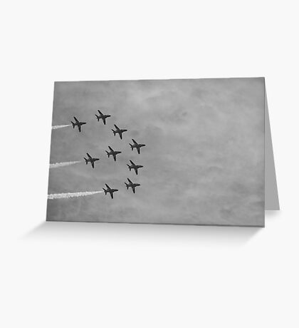 Red Arrows 9 Greeting Card