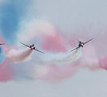 In The Line Of Fire - Red Arrows by JenMetcalf