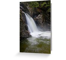 Bingham Falls Flowing with Gusto Greeting Card