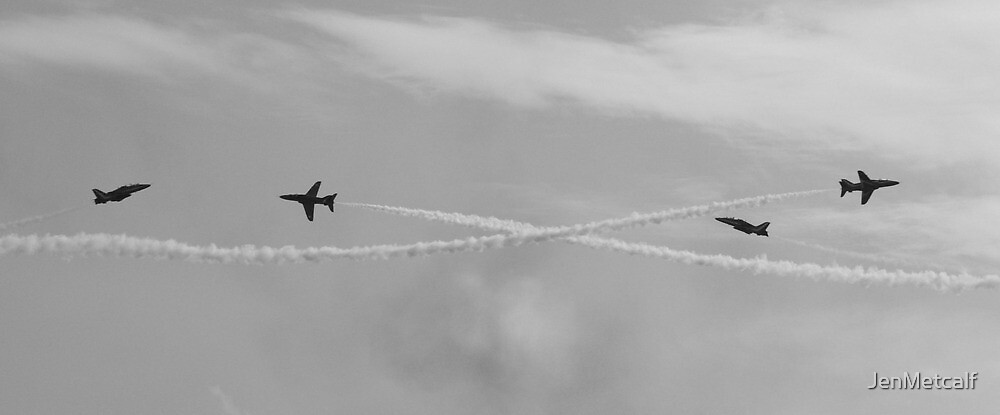 A Close Call - The Red Arrows by JenMetcalf