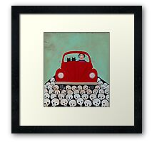 Frida and Cats Road Trip Framed Print