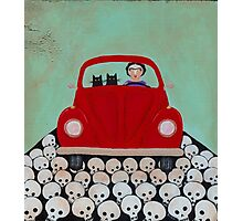 Frida and Cats Road Trip Photographic Print
