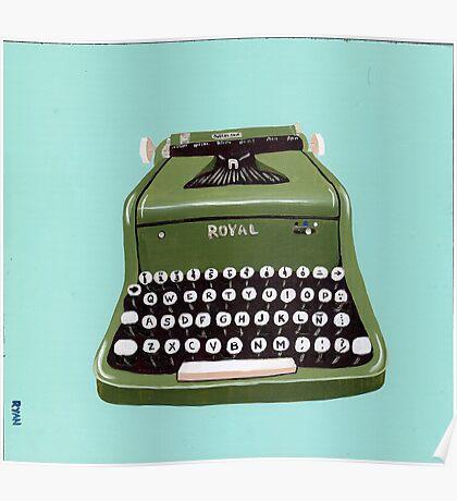 Green Royal Typewriter Poster