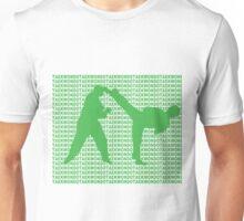 Taekwondo Side Kick Small Text Green  Unisex T-Shirt