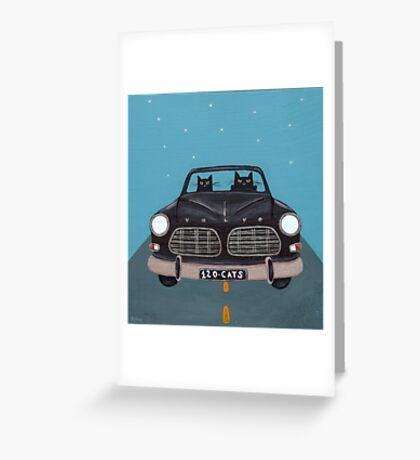 Black Volvo Amazon Greeting Card