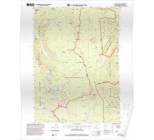 USGS Topo Map Oregon Devils Peak 279628 1998 24000 Poster