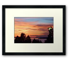 Sunset at the Hotel Framed Print