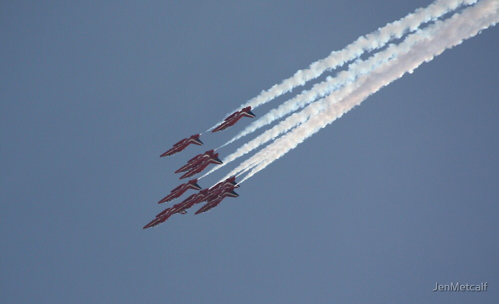 Fighting For Survival - The Red Arrows by JenMetcalf