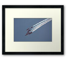 Fighting For Survival - The Red Arrows Framed Print