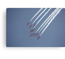 Red Arrows 18 Canvas Print