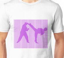 Taekwondo Side Kick Small Text Purple  Unisex T-Shirt
