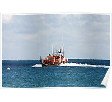 Mersey Class Lifeboat off on a Shout Poster