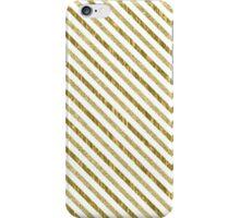 Gold Chevron Chic Stripes iPhone Case/Skin