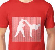 Taekwondo Side Kick Small Text White  Unisex T-Shirt