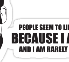 Anchorman T-Shirts - I am rarely late. Sticker