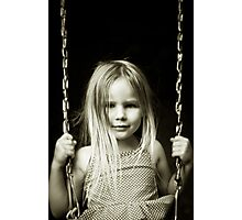 Abbie on a Swing Photographic Print