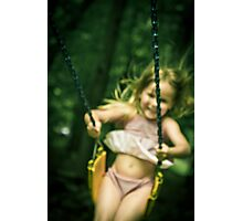 Abbie on a Swing #2 Photographic Print