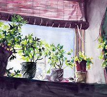 Along My Sunny Windowsill by Genevieve  Cseh
