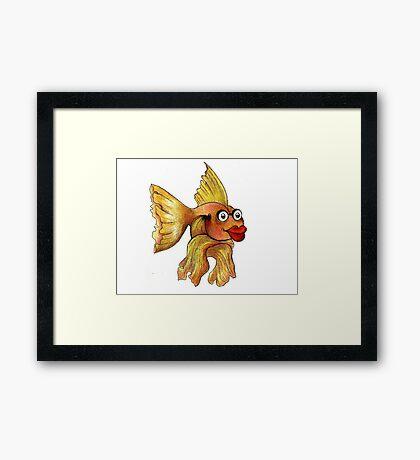 Goldfish Illustration Framed Print