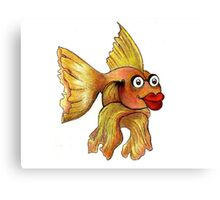 Goldfish Illustration Canvas Print