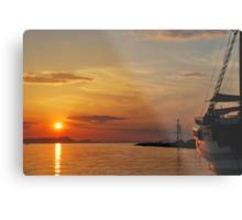 mellow harbour sunset Metal Print