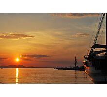 mellow harbour sunset Photographic Print