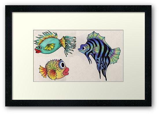 Cartoon Fish Illustration by plunder