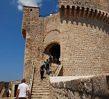 The city wall of Dubrovnik by julie08