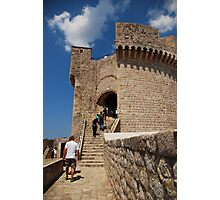 The city wall of Dubrovnik Photographic Print