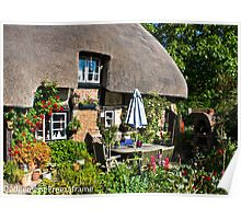 400 Year old thatched cottage Poster