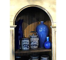 Blue Pottery Photographic Print