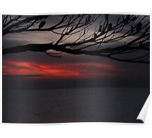 Smokey February sunset - Green Point -  Brighton - Victoria - Australia Poster