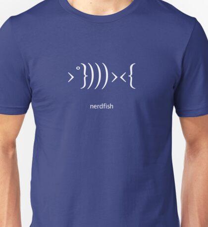 Nerdfish - White Unisex T-Shirt
