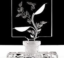 Perfume Bottle with Leaves by Austin Weaver