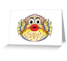 Puffer Fish Illustration Greeting Card