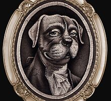 """""""In Dog We Trust"""" (portrait , with oval frame) by DaleSizer"""