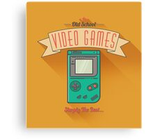 Old School Video Games Canvas Print