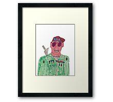 American Hero Soldier  Framed Print