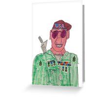 American Hero Soldier  Greeting Card