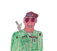 American Hero Soldier  Photographic Print